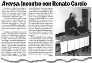Articolo giornale Renato Curcio ad Aversa